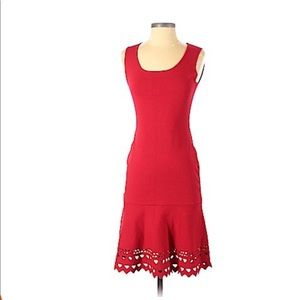 Ann Taylor Red Vicose Cocktail Dress